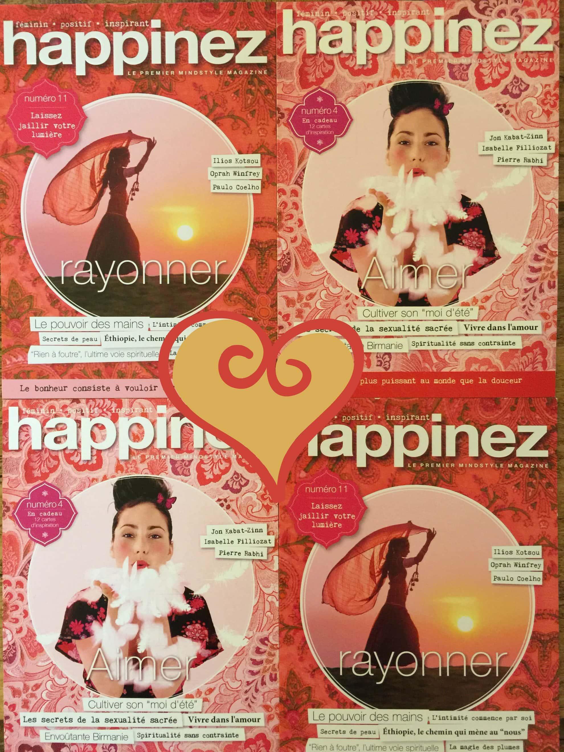 la revue Happinez