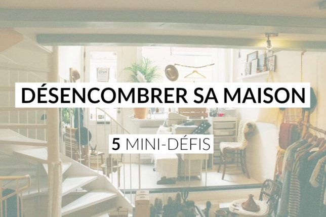 5 mini d fis pour d marrer le d sencombrement de sa maison les defis des filles zen. Black Bedroom Furniture Sets. Home Design Ideas