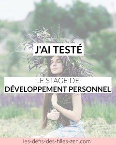 Stage de développement personnel