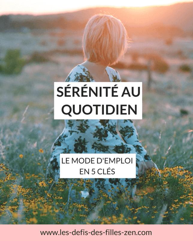 Sérénité au Quotidien