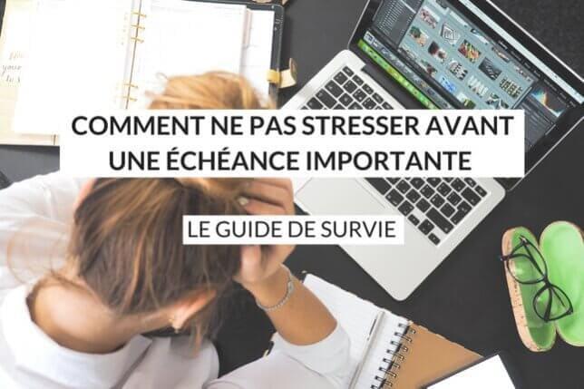 Comment ne pas stresser avant une échéance importante ? Parfois, à la vue d'un événement particulier, le stress peut grimper très vite ! Découvrez vite comment canaliser ce sentiment perturbateur et handicapant.