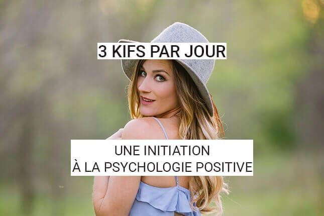 Découvrez le livre 3 kifs par jour, et initiez-vous à la psychologie positive. Voici une enquête sur le bonheur qui pourrait changer votre vie !