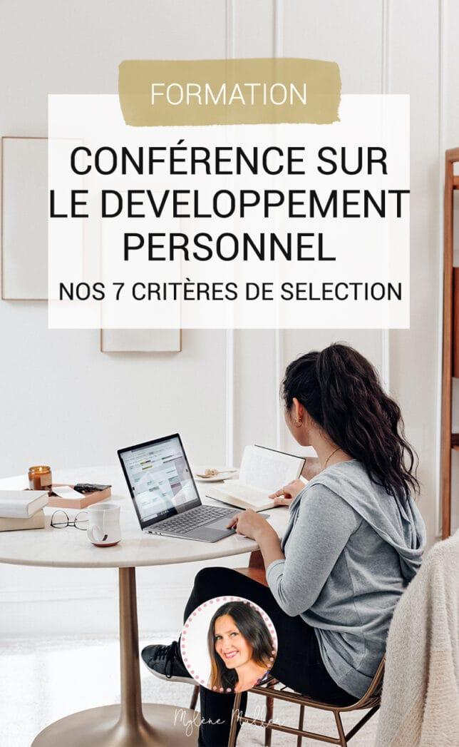 Comment choisir une conférence en développement personnel qui vous correspond? Découvrez 7 critères de sélection à prendre en compte.